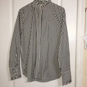 H&M Vertical Striped Button Up